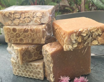 Honey Milk and Oats Soap