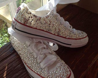 Custom Swarovski encrusted bling Wedding Converse