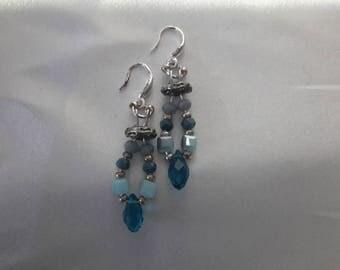 Ocean blue earrings.