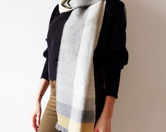 Peruvian alpaca silk scarf