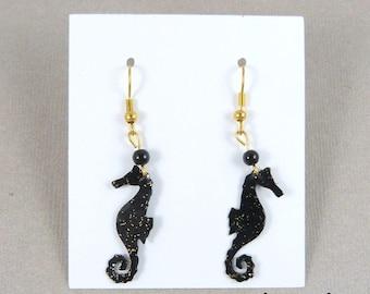 seahorses-(many colors) sea horse earrings