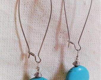 Elegant long earrings