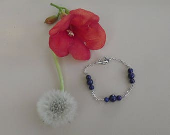Bracelet lapis lazuli beads