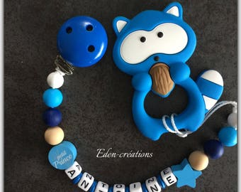 personalized pacifier teether silicone and wood beads