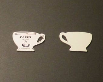 2 cups coffee scrapbooking embellishments