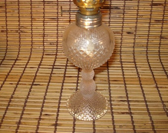 Mini Kerosene Oil Lamp - Vintage - Night Light - Diamond Pattern - Late 1800s