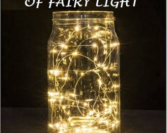 VALUE PACK, 20 LEDs Fairy Lights, Wedding Decorations lights, LED Mason Jar light Wedding Decor, firefly Lights, Led fairy lights