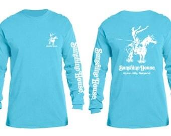 Sunshine House Surf Tee L/S LAGOON BLUE  XL