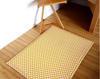 tapis jaune moutarde etsy. Black Bedroom Furniture Sets. Home Design Ideas