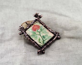 "Ceramic pendant ""Clover"", pottery pendant, clay pendant, branch pendant"