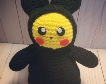 Pikachu in a Toothless outfit