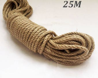 Natural High Quality Jute Rope, Jute Cord, 6mm,8mm, 25 meter