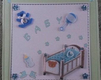 Newborn BABY boy card