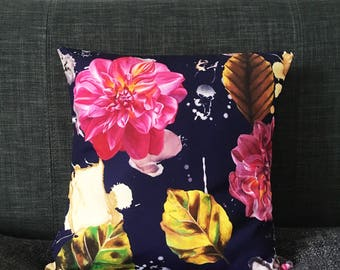 Multi Dahlia Cushion Cover