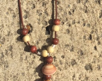 Brown Dangle Shell Necklace
