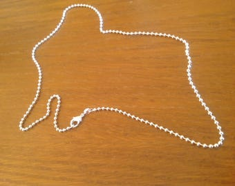 Chain 55.5 cm Sterling Silver 925 mesh ball.