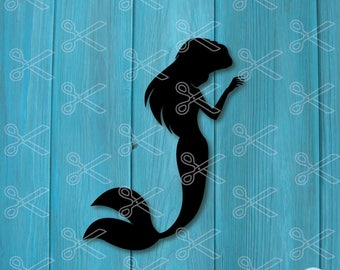Mermaid SVG, EPS, DXF, Png Cutting Files, mermaid tail svg, little mermaid svg, ariel svg, mermaid clipart, silhouette cameo & cricut ready