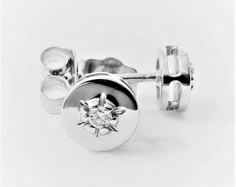 Gold Earrings Gold Diamond Studs Diamond Earrings Diamond Earring Round Diamond Earring Gemstone Earring gold Gift for woman