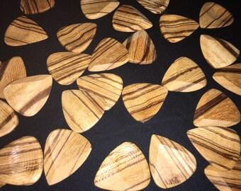 ZEBRA wood guitar picks