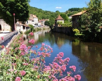 Brantome Beauty Fine Art Photography of Brantome, France and Dronne River - Digital Image Dowload - Printable Wall Art - Travel Photography
