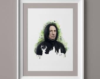 Limited Availability - Professor Snape Portrait Print