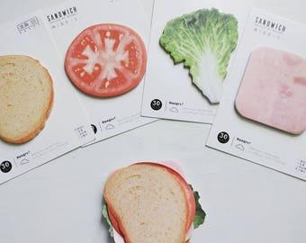 Sandwich sticky notes