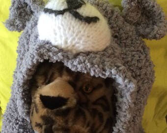 Cowl hand knitted Teddy child