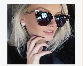 CATEYE  OVERSIZED SUNGLASSES Men and Women Fashion Trendy Eyewear Accessories