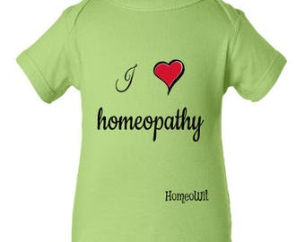 Baby Clothes, Baby Outfit, Baby Overall, Baby Bodysuit, Baby Onesie, I *heart* homeopathy, I love homeopathy