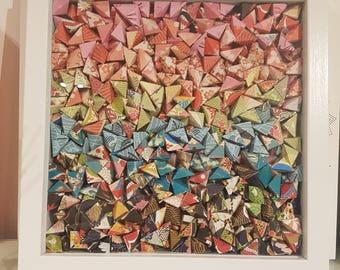 Shadow Box Frame Origami Rainbow Art