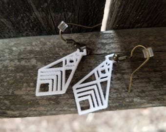 Geometric, Diamond, Indian Inspired, Cultural, Triangle Tribal 3D Printed Jewelry