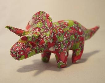 Paper mache triceratops
