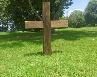 Standing Wooden Cross / Stand Alone Wooden Cross / Rustic Cross