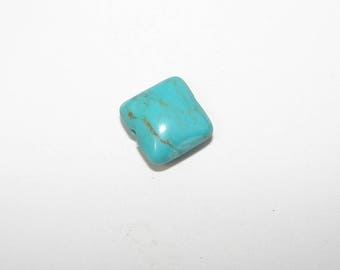 1 turquoise square 10.00 mm in diameter. (9791015)