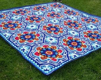 Persian Tiles crochet blanket/afghan