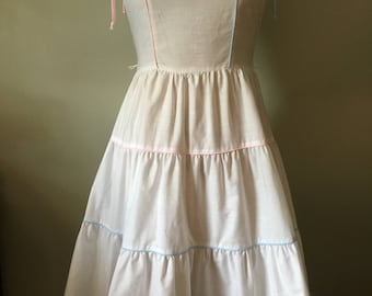 vintage late 70s early 80s Wildcrest white sundress