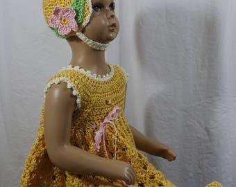 crochet, baby, dress