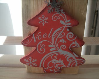 Scandinavian wooden with red tree house