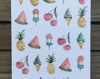 Watercolor Summertime cards
