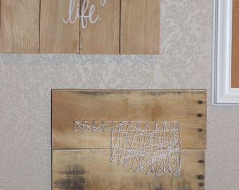Small Oklahoma String Art Sign