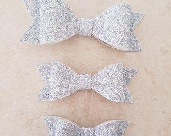 Lilac Glitter Bow