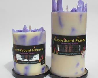 Lilac & Jasmine Pillar Candle