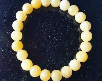 Honey jade bracelet, jade bracelet, emotional balance bracelet, yellow jade bracelet, honey bracelet, yellow beaded bracelet, jade jewellery
