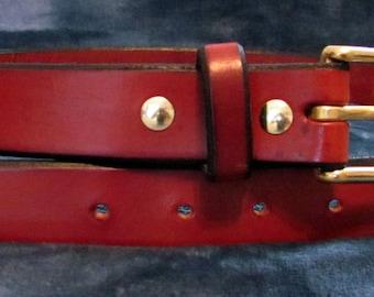 """Heavy Duty Handmade Leather Belt - Size 40"""""""