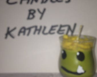 Katie Cook Autographed Gronk handmade Strawberry scented candle.