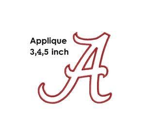 Alabama Applique Designs, A Logo Embroidery Design, instant Download
