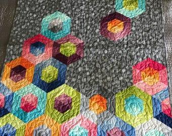 Bright Geometric Baby Quilt