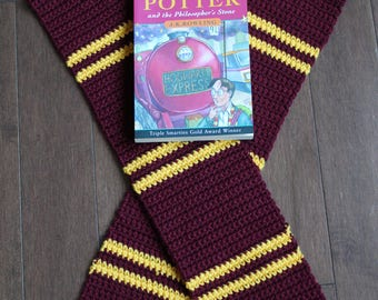 Gryffindor Crochet Scarf