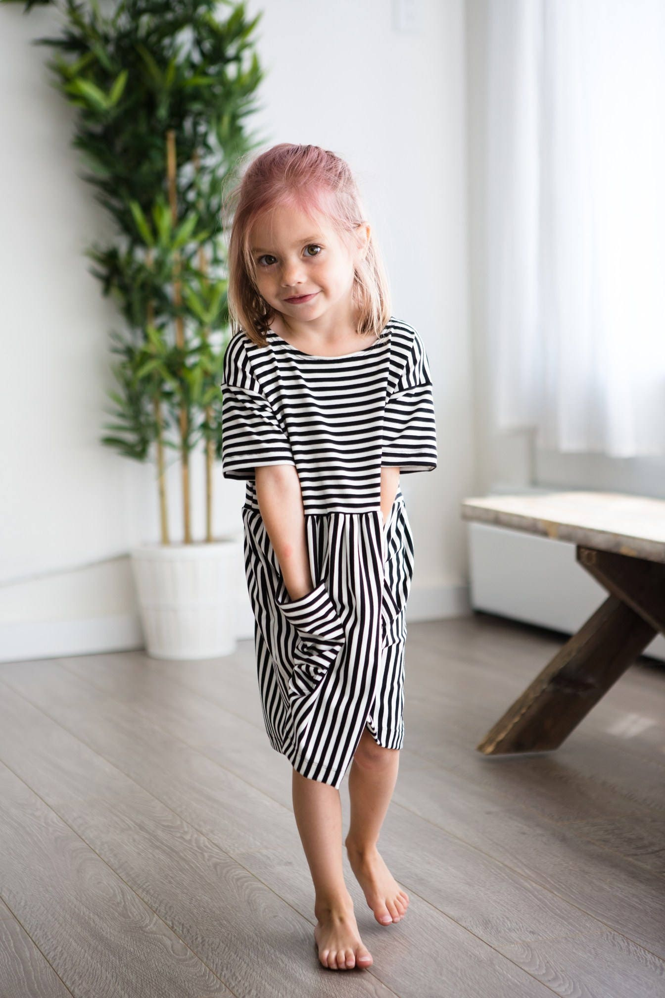 image trendy baby. Boho Dress | Stripe Bamboo, Baby Dress, Hipster Clothes, Toddler Image Trendy A