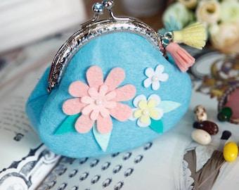 DIY Kit Daisy Felt Coin purse